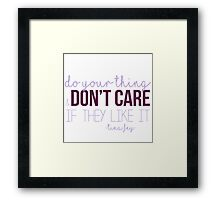 Do Your Thing Framed Print