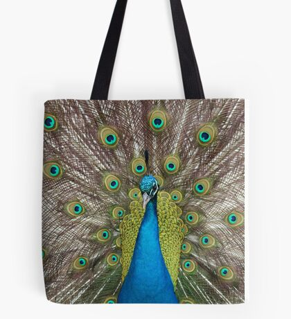Male Peacock Tote Bag
