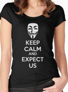 Keep calm and expect us Women's Fitted Scoop T-Shirt