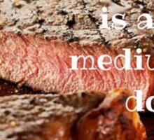 Steak Pun  Sticker