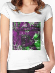 Abstract Study In Green And purple Women's Fitted Scoop T-Shirt