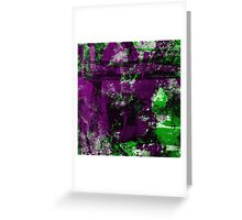 Abstract Study In Green And purple Greeting Card