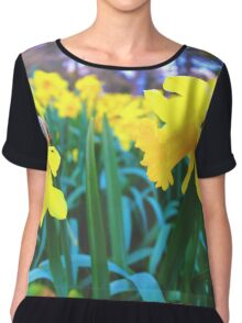 Spring Time Daffodils 2 Chiffon Top