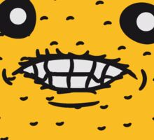 lemon tasty eat sour face, comic cartoon funny Sticker