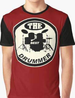 The Best Drummer white black Graphic T-Shirt
