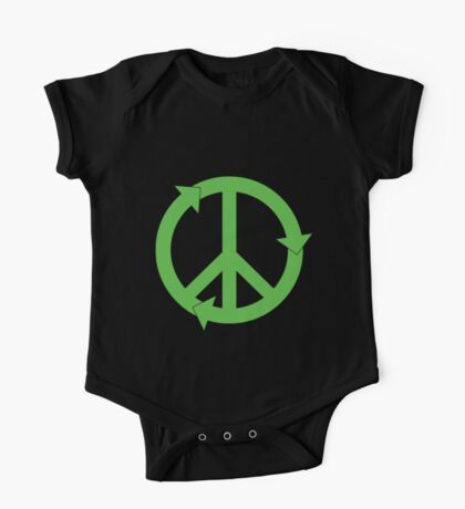 Peace and Love and Recycling One Piece - Short Sleeve
