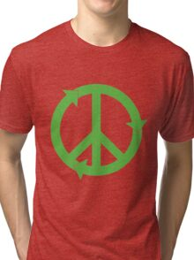 Peace and Love and Recycling Tri-blend T-Shirt