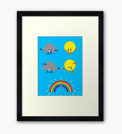 Character Fusion - Rainbow Framed Print