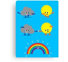 Character Fusion - Rainbow Canvas Print
