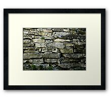 Wall built from stone plates in 1875 Framed Print