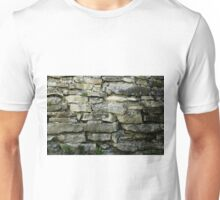Wall built from stone plates in 1875 Unisex T-Shirt