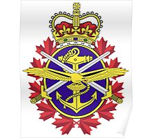 Canadian Forces (CF) Logo Poster