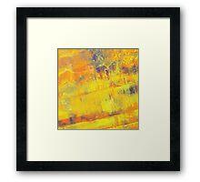 Fire On Blue Framed Print