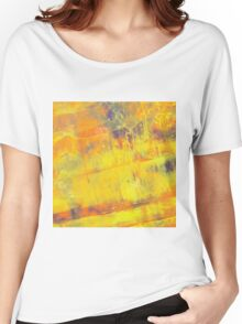 Fire On Blue Women's Relaxed Fit T-Shirt