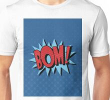 Comics Bubble with Expression Bom in Vintage Style Unisex T-Shirt
