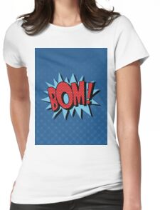 Comics Bubble with Expression Bom in Vintage Style Womens Fitted T-Shirt