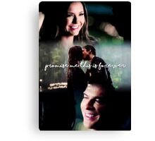 """Promise me this is forever"" - The Vampire Diaries Canvas Print"
