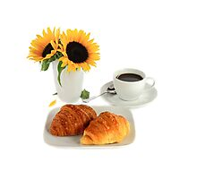 Breakfast – Croissants and Coffee. Photographic Print