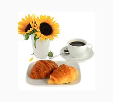 Breakfast – Croissants and Coffee. Unisex T-Shirt
