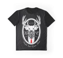 Deer Beard Suit WHT Graphic T-Shirt