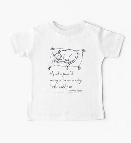 Cat Nap Haiku Baby Tee