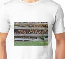 Stack of Firewood.  Unisex T-Shirt