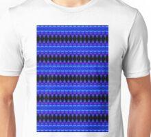 Black Diamonds on Blue Unisex T-Shirt