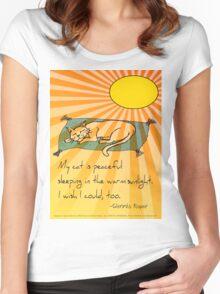 Cat Nap Haiku Women's Fitted Scoop T-Shirt