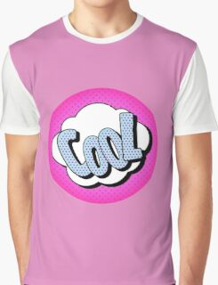 Comics Bubble with Expression Cool in Vintage Style Graphic T-Shirt