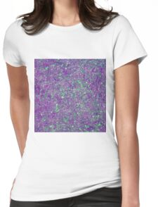 Abstract Splatter Purple And Green Womens Fitted T-Shirt