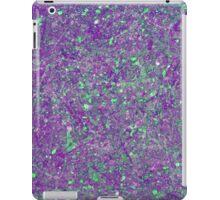 Abstract Splatter Purple And Green iPad Case/Skin
