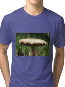 Wild Mushroom extremely close up. Tri-blend T-Shirt