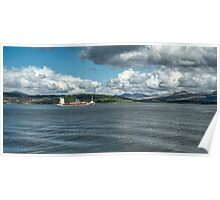The River Clyde at Greenock, Scotland Poster
