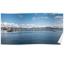 Scottish Scenery on The River Clyde Poster