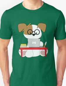 Cute Puppy and Laptop T-Shirt