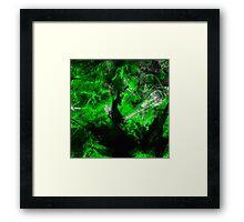 Emerald Blast Framed Print