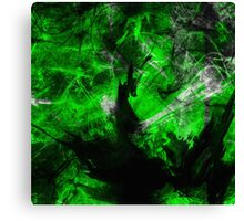 Emerald Blast Canvas Print