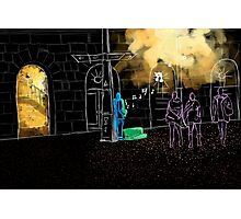 Night Jazz - May the night be full of music Photographic Print