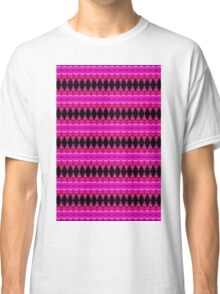 Black Diamonds on Pink Classic T-Shirt
