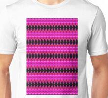 Black Diamonds on Pink Unisex T-Shirt