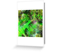 Neon Galaxy Greeting Card