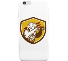 California Grizzly Bear Smirking Claw Marks Crest Retro iPhone Case/Skin