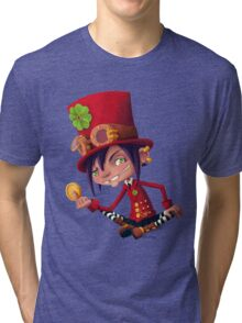 Steampunk Leprechaun Tri-blend T-Shirt