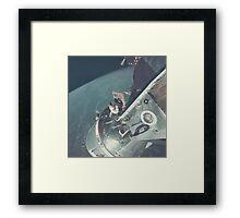 Nasa Astronaut Opening Hatch Framed Print