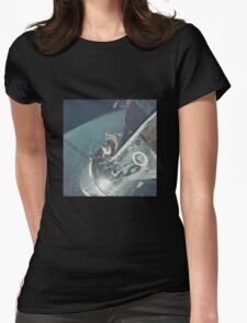 Nasa Astronaut Opening Hatch Womens Fitted T-Shirt