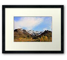 Snowy Peaks of Denali Framed Print