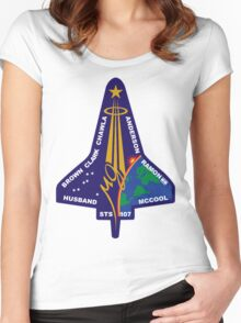 STS-107 Space Shuttle Columbia Mission Logo Women's Fitted Scoop T-Shirt