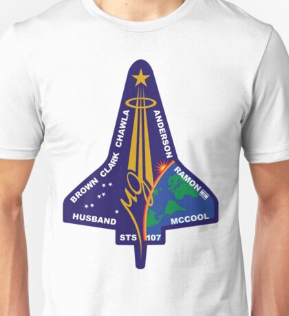 STS-107 Space Shuttle Columbia Mission Logo Unisex T-Shirt