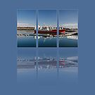 Killybegs Harbour Triptych by Martina Fagan