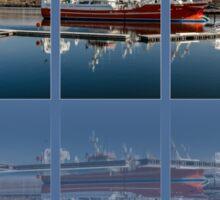 Killybegs Harbour Triptych Sticker